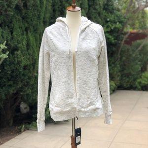 NWT Asics White/ Grey Hooded Jacket